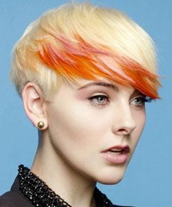 streaks of red on brown hair
