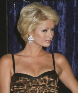 Paris Hilton with short wavy style - profile view September 2007