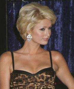 Paris Hilton with short wavy style - profile view September 2007