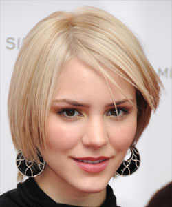 Katharine McPhee with bob razor-sliced haircut front