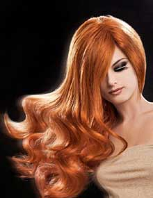 Copper red hair color by Egidio Borri