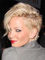 Sarah Harding with long fringe