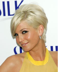 Sarah Harding platinum blond side view