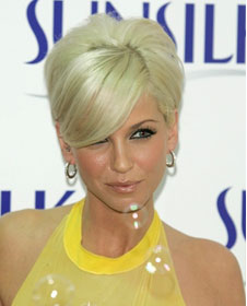 Sarah Harding white blond look front