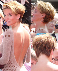 Sarah Harding casual look side and back view