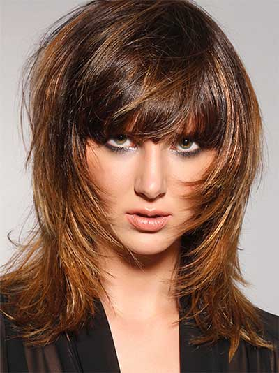 shaggy hairstyle with extensive layers