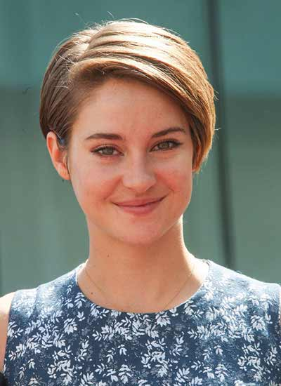 Shailene Woodley casual short hair