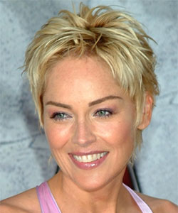 Sharon stone with short hair for mature women