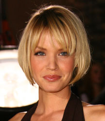 short blond bob style by ashley scotts