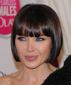 Dannii Minogue with short bob and blunt bangs