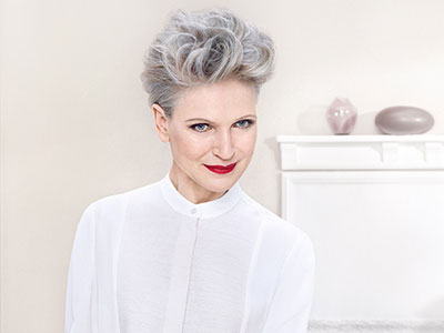 multi tonal coloring grey hair by Wella