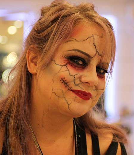 Bride of Frankenstein makeup effect
