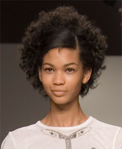 Hairstyles For Short Kinky Hair : datchickneeks.wordpres...Curly hair with straight bangs,
