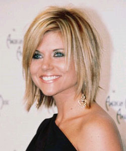 Tiffani Amber Thiessen with layered hair style