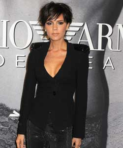 Victoria Beckham with short pixie crop overall view