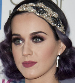 katy perry with vintage makeup