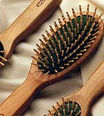 wood bristle hair brush
