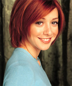 alyson hannigan with bob hairstyle