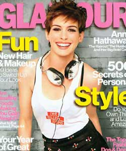 Anne Hathaway on Glamour cover