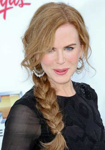 Nicole Kidman with simple braid