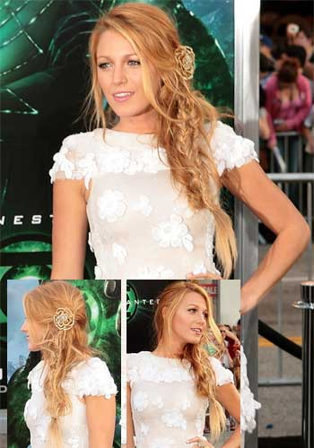 Blake Lively with french braided style