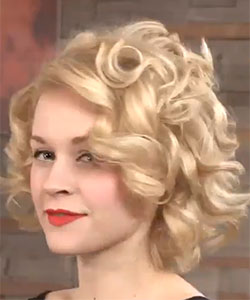model with 50s hair style