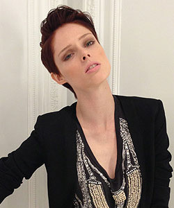 Coco Rocha with Tilda Swinton inspired haircut - back combed style
