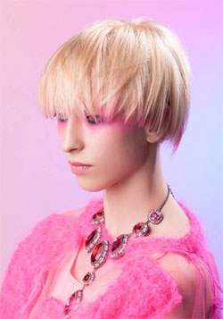 Dip dye with pink hair color