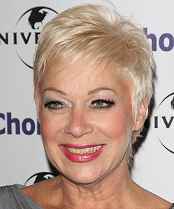 pixie haircut in blonde - 55 years old
