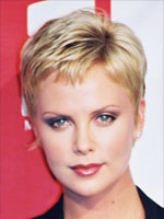 easy short hair in blond color