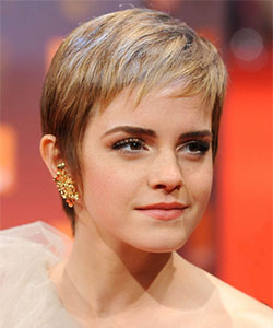emma watson with perky pixie haircut