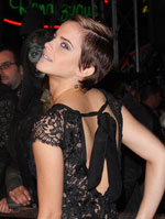 emma watson with short hair side view