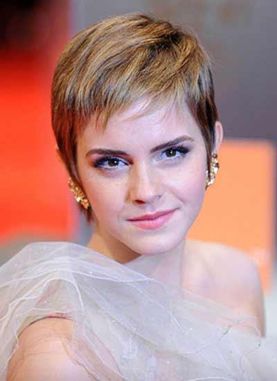 Emma watson pixie haircut front view