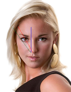 using golden ratio concept to find out where to start and arch your eyebrow