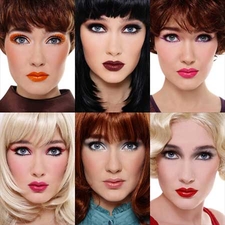 fashion wigs in different colors and shapes