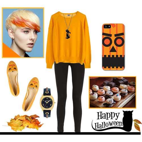 Orange Top to Toe for Fashion Halloween