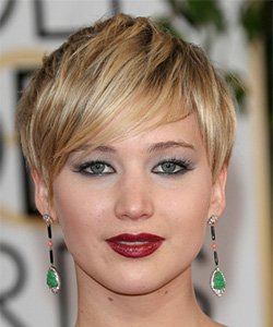 Jennifer with short hair and makeup