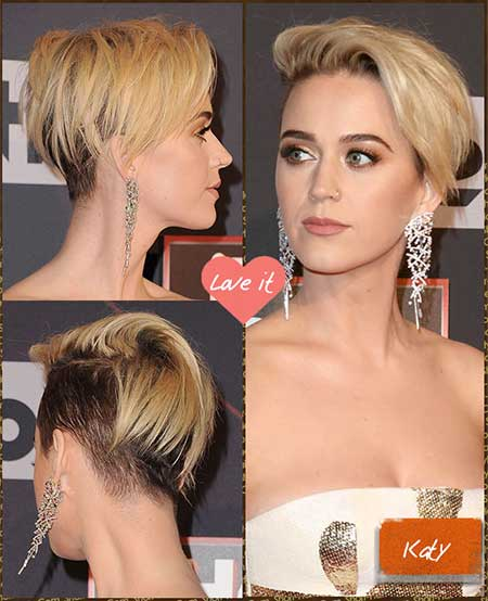 katy Perry with Short Hair March 2017