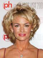 Kelly Carlson Short Curly Hair front view