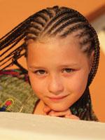 kid with micro braid hair