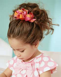 kids hairstyle with cute updo