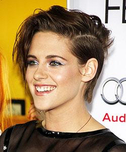 rock-chic messy look of Kristen Stewart