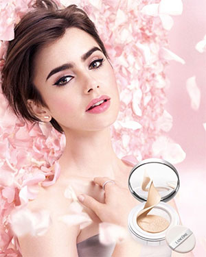 Lily Collins as face of Lancôme