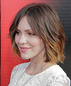 medium-length bob hair style in ombre