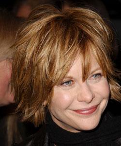 Meg Ryan with shaggy style - February 2004