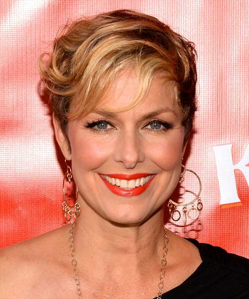 Melora Hardin - 2014 casual short hair for formal event