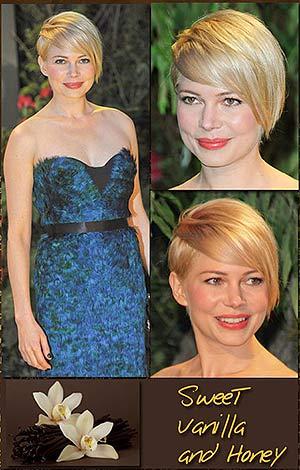short Blond hairin vanilla and honey colorations