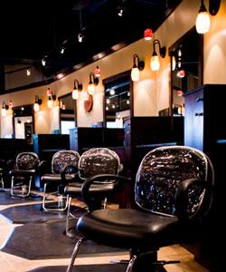 chairs in modern hair salon