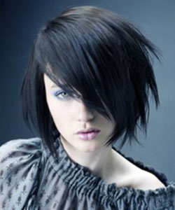 short hair model with clip-in extension to add length to bangs
