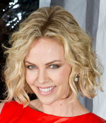 charlize throne with short tousled hair